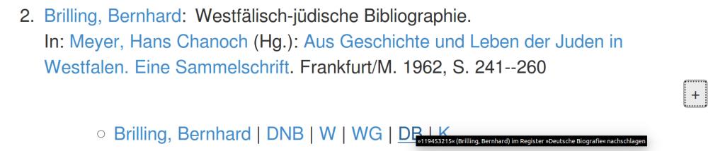 Beispiel-Titelsatz mit GND-Verknüpfungen (Screenshot)